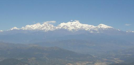 mountain views near Kathmandu