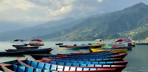 Boats at Fewa Lake Pokhara