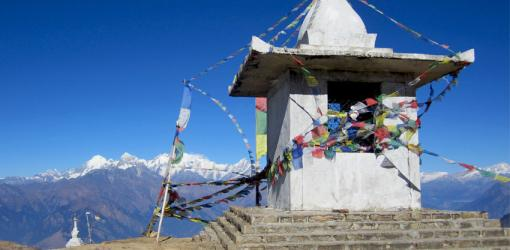Chorten view on Helambu Trek
