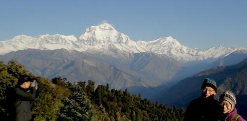 Panorami view from Ghorepani Poon HIll