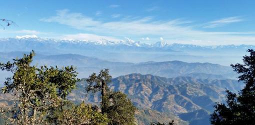 Mountain view from Phulchowki