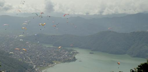 Paragliding at Pokhara