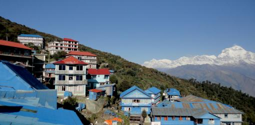 Poon Hill Village with Mountain Background