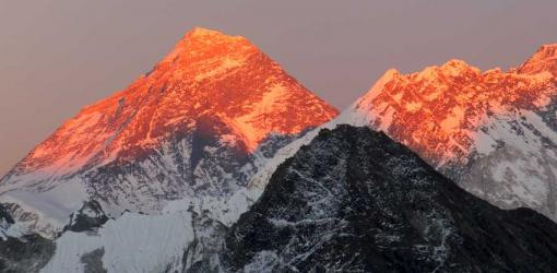 Sunrise view over Mount Everest