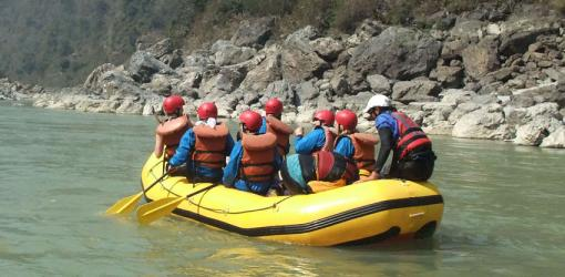 Rafting at Trishuli River