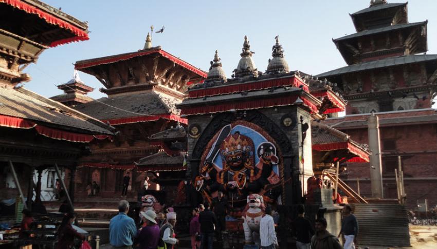 Kaal Bhairab at Kathmandu Durbar Square
