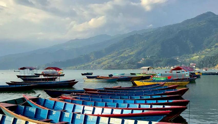 Boats at Fewa Lake Pokhara