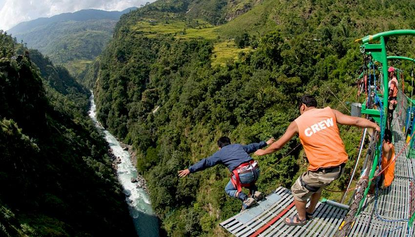 Bungee Jumping at Tatopani
