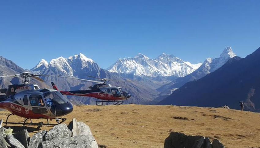 Helicopater at Everest Region