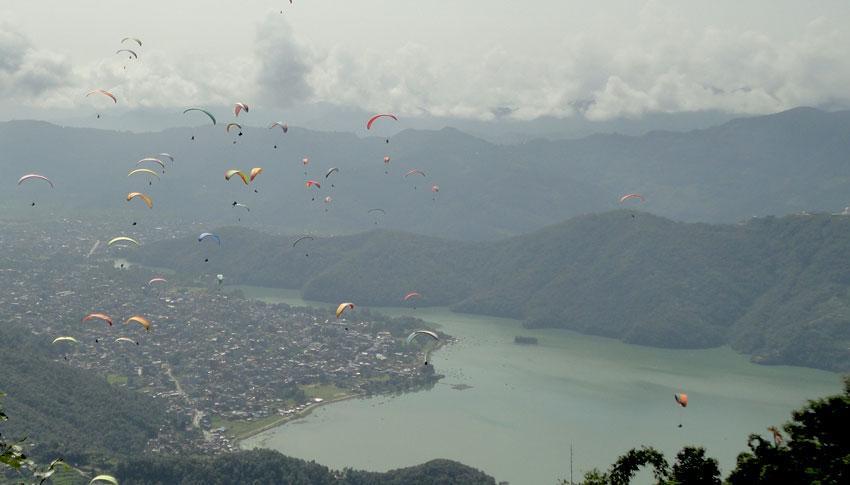 Paragliding at Pokhara